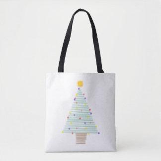 Bolsa Tote sacola alinhada da árvore de Natal