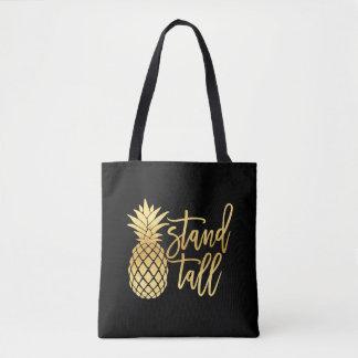 Bolsa Tote Sacola alta do suporte do abacaxi do ouro