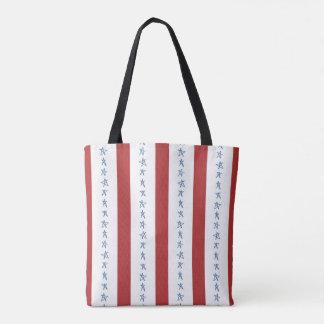 Bolsa Tote Sacola alternativa do estilo da bandeira dos