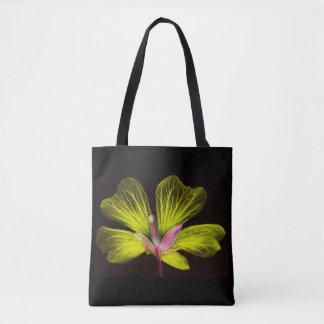 Bolsa Tote Sacola amarela de flower power