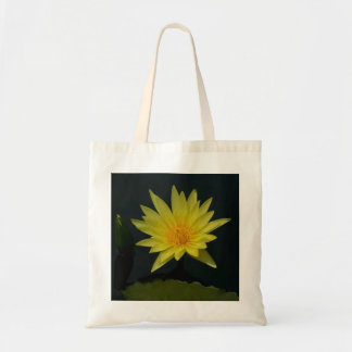 Bolsa Tote Sacola amarela de Lotus Waterlily