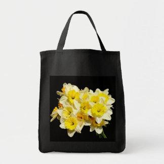 Bolsa Tote Sacola amarela do mantimento do Daffodil