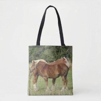 Bolsa Tote Sacola ambarina bonito de dois cavalos
