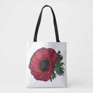 Bolsa Tote Sacola anemone2 vermelha