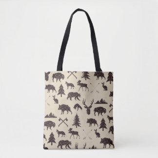 Bolsa Tote Sacola animal geométrica dos animais | da floresta