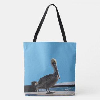 Bolsa Tote Sacola (ao) - pelicano no Sun