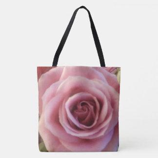Bolsa Tote Sacola ascendente do impressão do fim do rosa do