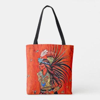 Bolsa Tote Sacola asteca do nativo americano do dançarino do