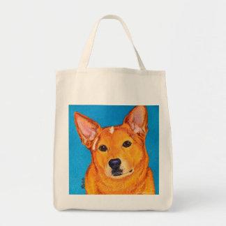 """Bolsa Tote Sacola australiana do cão do gado - """"vermelho """""""