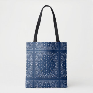 Bolsa Tote Sacola azul clássica do Bandana