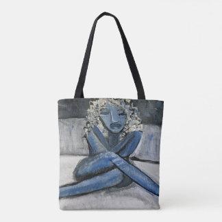 Bolsa Tote Sacola azul de sentimento (customizável)
