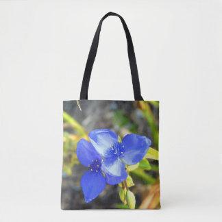 Bolsa Tote Sacola azul do Wildflower