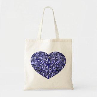 Bolsa Tote Sacola azul Tangled do coração