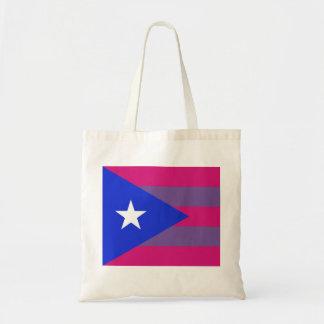 Bolsa Tote Sacola bissexual do orgulho porto-riquenho LGBT do