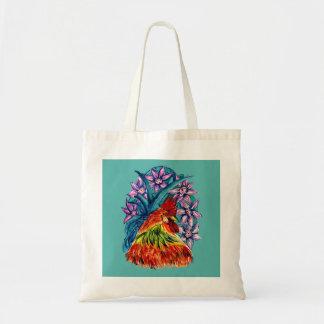 Bolsa Tote Sacola bonita do orçamento do Watercolour do galo