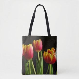 Bolsa Tote sacola bonito da fotografia da flor das tulipas