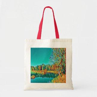 Bolsa Tote Sacola bonito da paisagem do campo do verão