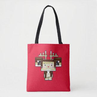 Bolsa Tote Sacola bonito da rena de Blockimals dos desenhos