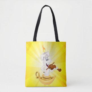 Bolsa Tote Sacola bonito da vela dos desenhos animados
