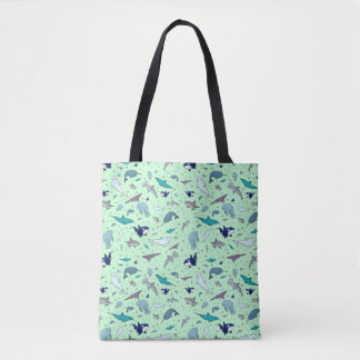 Bolsa Tote Sacola bonito do animal do oceano