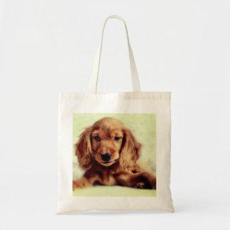 Bolsa Tote Sacola bonito do cão de filhote de cachorro de