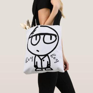 Bolsa Tote Sacola bonito do desenho dos desenhos animados Hey