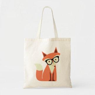 Bolsa Tote Sacola bonito do orçamento do Fox do hipster