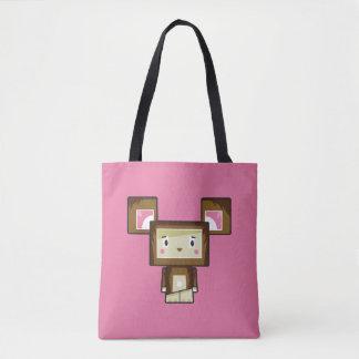 Bolsa Tote Sacola bonito do urso de Blockimals dos desenhos