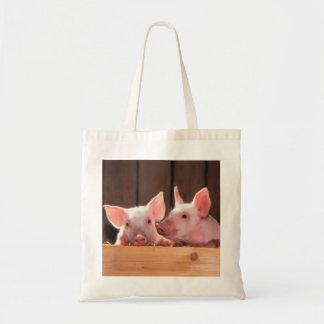 Bolsa Tote Sacola bonito dos porcos