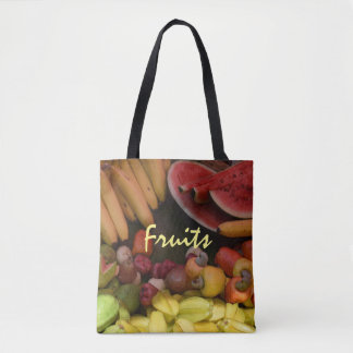 Bolsa Tote Sacola botânica da bandeja brilhante da fruta