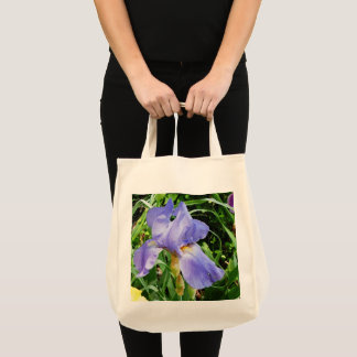 Bolsa Tote Sacola botânica da íris roxa