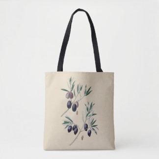 Bolsa Tote Sacola botânica das azeitonas