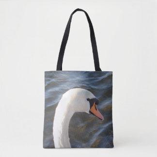 Bolsa Tote Sacola branca da cisne