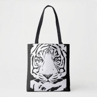Bolsa Tote Sacola branca do tigre