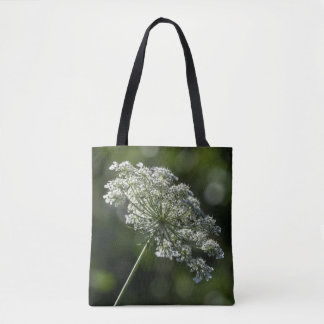 Bolsa Tote Sacola branca do Wildflower do laço da rainha Anne