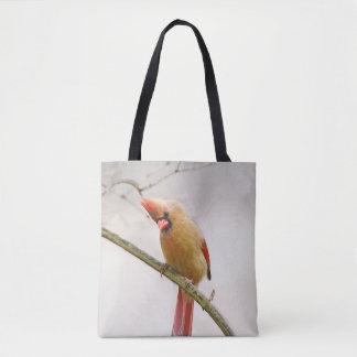 Bolsa Tote Sacola cardinal fêmea curiosa