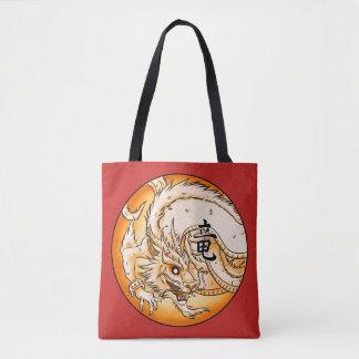 Bolsa Tote Sacola chinesa do impressão do dragão toda sobre -