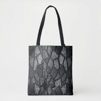 Bolsa Tote Sacola cinzenta escura do vidro de mosaico