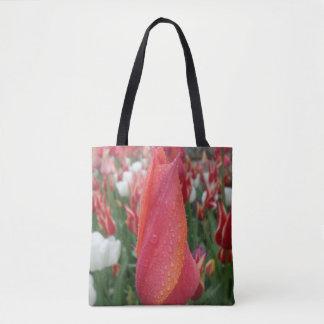 Bolsa Tote Sacola colorida da flor da tulipa