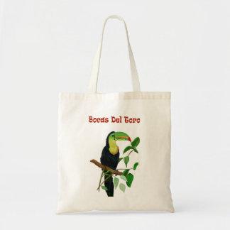 Bolsa Tote Sacola colorida de Toucan da floresta tropical