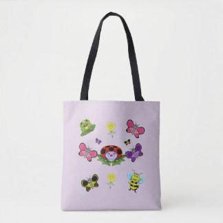 Bolsa Tote Sacola colorida do jardim