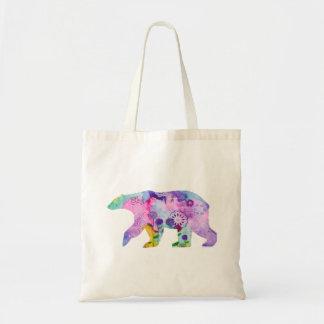 Bolsa Tote Sacola colorida do urso polar