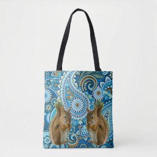 Bolsa Tote Sacola colorida dos esquilos bonitos
