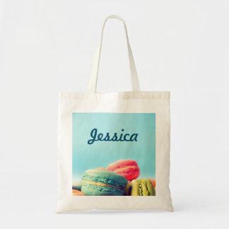 Bolsa Tote Sacola colorida personalizada dos biscoitos de