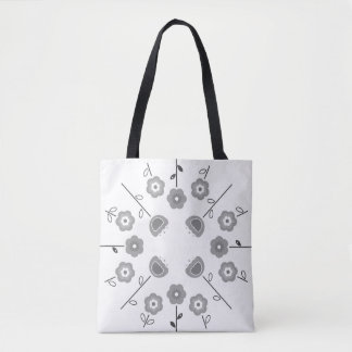 Bolsa Tote Sacola com arte da mandala