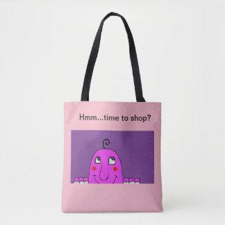 Bolsa Tote sacola com caráter e título do divertimento