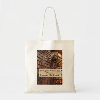 Bolsa Tote Sacola com citações do conto de fadas do livro