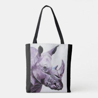 Bolsa Tote Sacola com design do rinoceronte