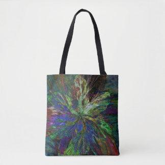 Bolsa Tote Sacola com design floral do Fractal