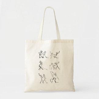 Bolsa Tote Sacola com doze dançarinos